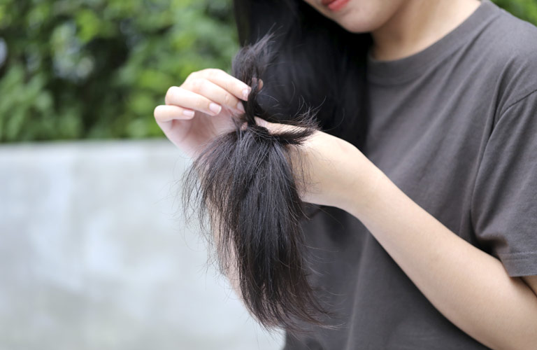 Tratamiento para el cabello seco y dañado